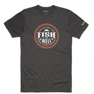 Simms Fish It Well T-Shirt Grey Heather