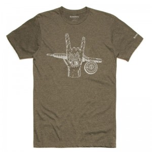 Simms Hackett Rocker T-Shirt Olive Heather