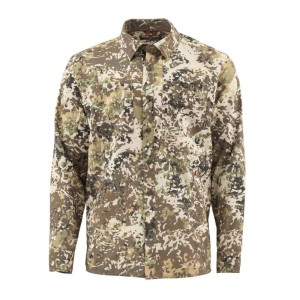 Simms Double Haul Shirt River Camo