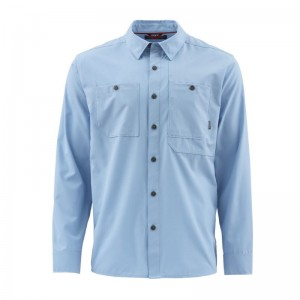 Simms Double Haul Shirt Faded Denim