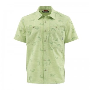 Simms Double Haul SS Shirt Tarpon Time Key Lime