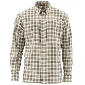 Simms Bugstopper Shirt Cork Plaid