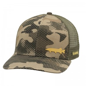 Simms Payoff Trucker Pike Hex Flo Camo Timber
