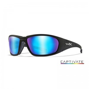 Wiley X Captivate Boss Blue Mirror/Matte Black