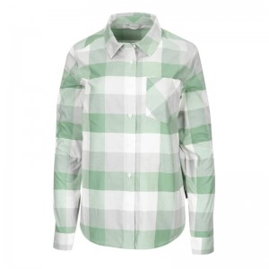 Simms Womens Sunset Flannel Seafoam Buffalo Plaid