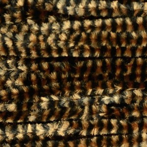 Hareline Variegated Chenille Med #12 Black/Coffee
