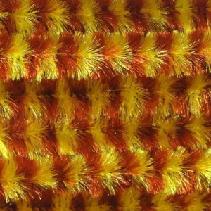 Hareline Variegated Chenille Med #43 Brown/Yellow