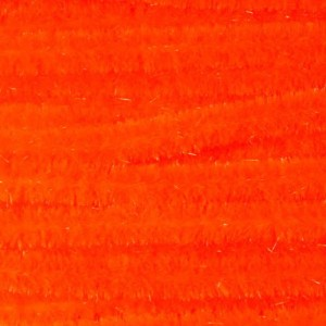 Hareline Ultra Chenille Medium #129 Fluo F Orange