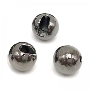 Hareline Tungsten Slotted Beads #11 Black