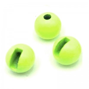 Hareline Tungsten Slotted Beads #142 Fluo Yellow