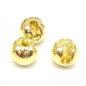 Hareline Tungsten Slotted Beads #153 Gold