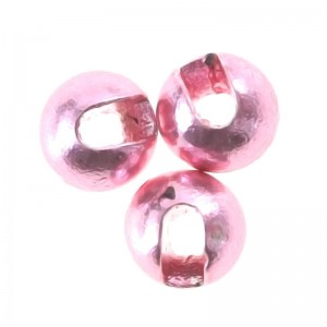 Hareline Tungsten Slotted Beads #214 Light Pink