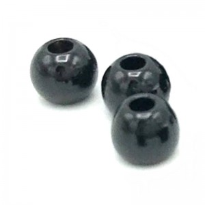 Hareline Tungsten Beads #196 Jet Black
