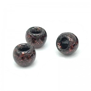 Hareline Tungsten Beads #15 Black Ruby