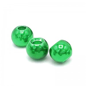 Hareline Tungsten Beads #234 Metallic Green