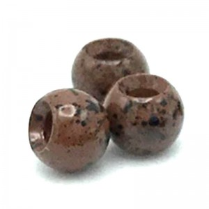 Hareline Tungsten Beads #239 Mottled Brown
