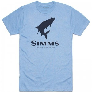 Simms Tarpon Logo T-Shirt Light Blue Heather