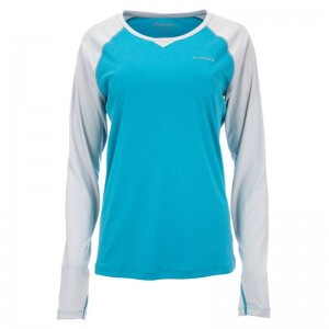 Simms Women's Solarflex Crewneck Meridian Heather