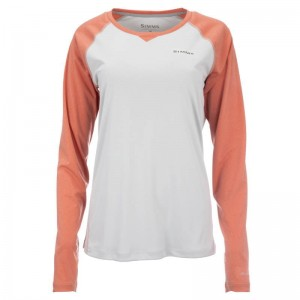 Simms Women Solarflex Crew Sterling Salmon Heather