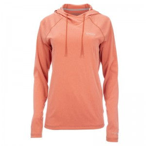 Simms Women Solarflex Hoody Smoked Salmon Heather