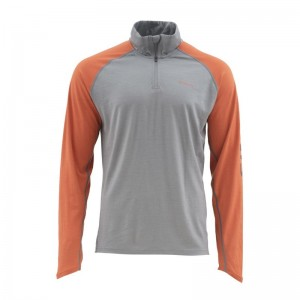 Simms Ultra-Wool Core Top 1/4 Zip Simms Orange
