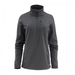 Simms Women's Fleece Midlayer Half-Zip Raven