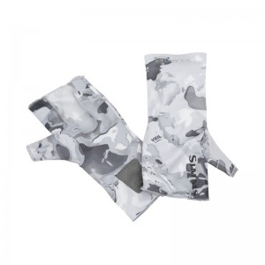 Simms Solarflex No-Finger SunGlove Cloud Camo Grey