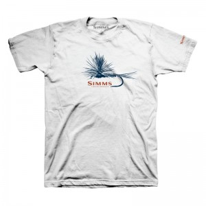 Simms Adams Fly T-Shirt White