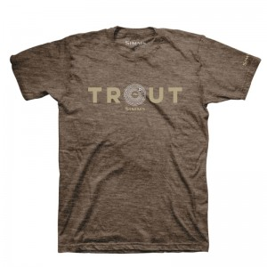 Simms Reel Trout T-Shirt Brown Heather