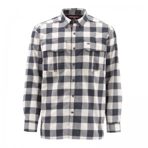 Simms Coldweather Shirt Sand Buffalo Plaid