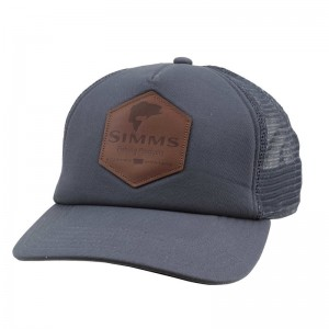 Simms Leather Patch Trucker Anvil
