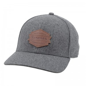 Simms Leather Patch Cap Heather Grey