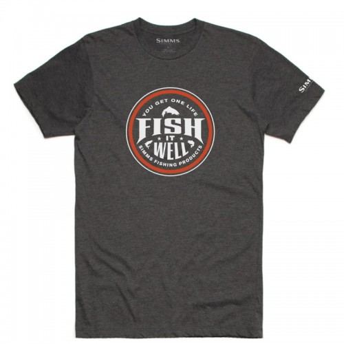 Simms Fish It Well T-Shirt Grey Heather-18183