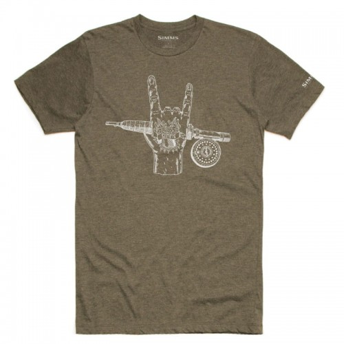 Simms Hackett Rocker T-Shirt Olive Heather-18197