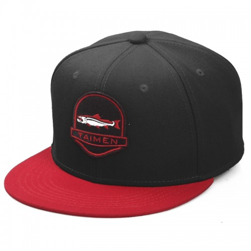 Taimen-Logo-Fish-Snap-Back-BlackRed.jpg